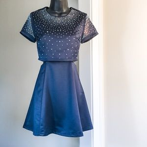 3/$35 SALE! DO & BE navy blue NWT Small sparkly